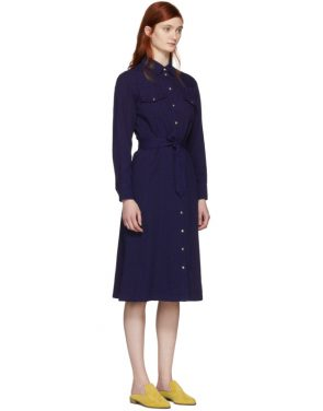 photo Indigo Annie Button Up Dress by A.P.C. - Image 2