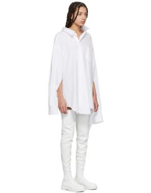photo White Oversized Slit Sleeve Shirt Dress by Junya Watanabe - Image 2