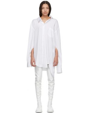 photo White Oversized Slit Sleeve Shirt Dress by Junya Watanabe - Image 1