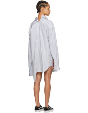 photo White and Blue Oversized Shirt Dress by Junya Watanabe - Image 3
