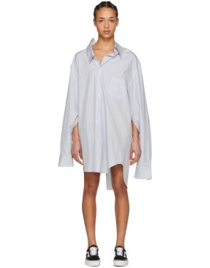 photo White and Blue Oversized Shirt Dress by Junya Watanabe - Image 1