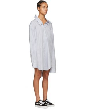 photo White and Blue Oversized Shirt Dress by Junya Watanabe - Image 4