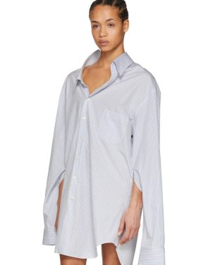 photo White and Blue Oversized Shirt Dress by Junya Watanabe - Image 5