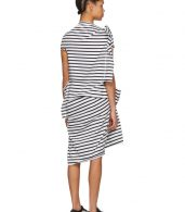 photo White and Black Skewed Striped T-Shirt Dress by Junya Watanabe - Image 3