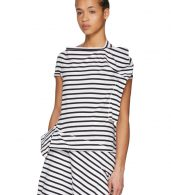 photo White and Black Skewed Striped T-Shirt Dress by Junya Watanabe - Image 4