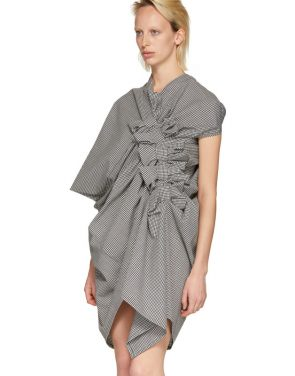 photo Black and White Asymmetric Gingham Dress by Junya Watanabe - Image 4