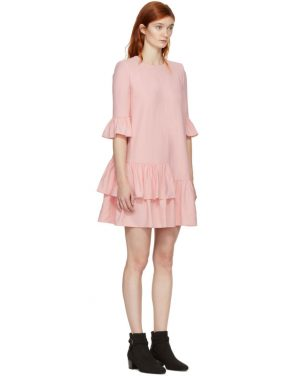 photo Pink Leaf Crepe Dress by Alexander McQueen - Image 2