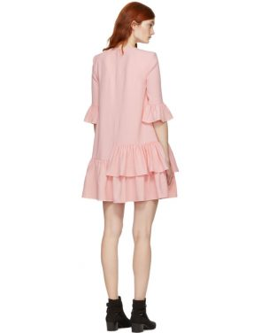 photo Pink Leaf Crepe Dress by Alexander McQueen - Image 3