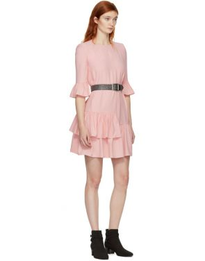 photo Pink Leaf Crepe Dress by Alexander McQueen - Image 4