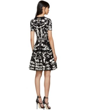 photo Black and White Botanical Spine Dress by Alexander McQueen - Image 3