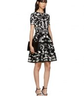 photo Black and White Botanical Spine Dress by Alexander McQueen - Image 4
