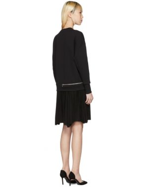 photo Black Zip Sweasthirt Dress by Alexander McQueen - Image 3