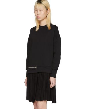 photo Black Zip Sweasthirt Dress by Alexander McQueen - Image 4