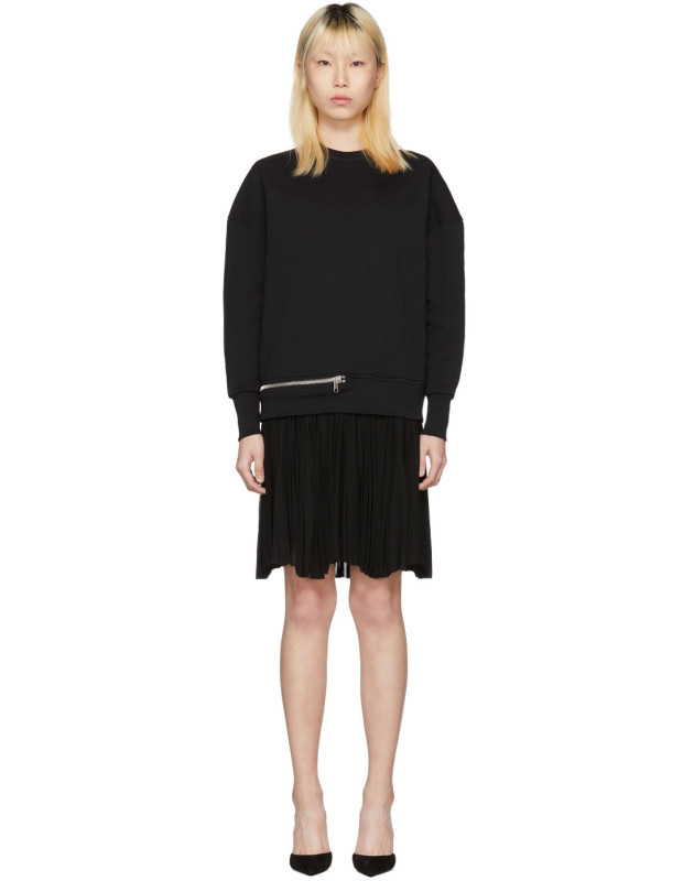 photo Black Zip Sweasthirt Dress by Alexander McQueen - Image 1