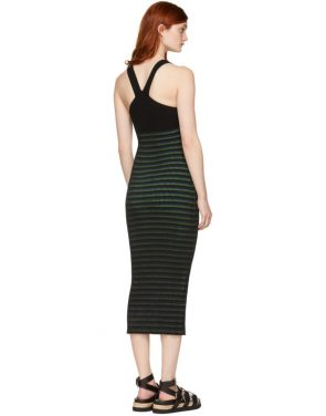 photo Black Striped Maxi Dress by Opening Ceremony - Image 3