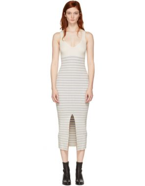 photo White Striped Maxi Dress by Opening Ceremony - Image 1