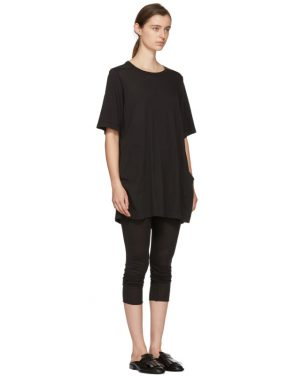 photo Black T-Shirt Dress by Raquel Allegra - Image 2
