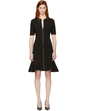 photo Black V-Neck Flare Dress by Givenchy - Image 1