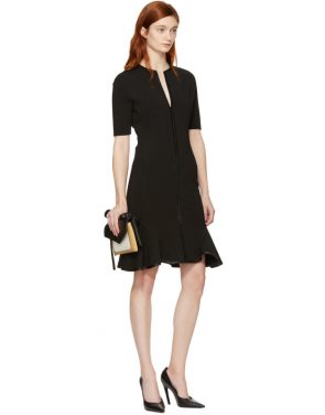 photo Black V-Neck Flare Dress by Givenchy - Image 4
