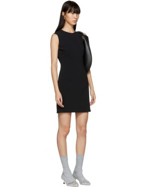 photo Black Round Neck Short Dress by Givenchy - Image 4