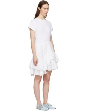 photo White Flamenco T-Shirt Dress by 3.1 Phillip Lim - Image 2