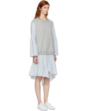 photo Grey French Terry Combo Dress by 3.1 Phillip Lim - Image 2