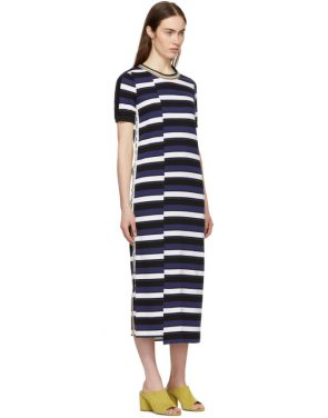 photo Navy Striped Midi Dress by 3.1 Phillip Lim - Image 2