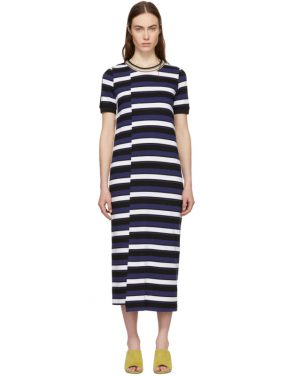 photo Navy Striped Midi Dress by 3.1 Phillip Lim - Image 1