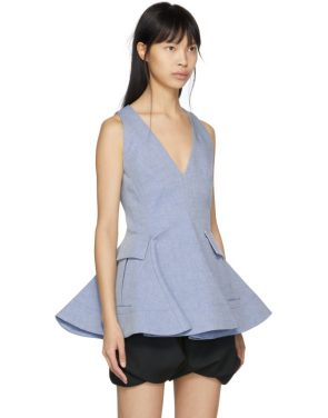 photo Indigo Twill Short Dress by Carven - Image 2