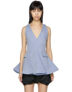 photo Indigo Twill Short Dress by Carven - Image 1