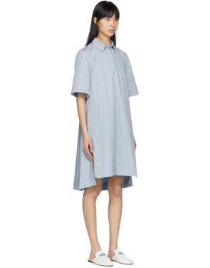 photo Blue Poplin Short Dress by Carven - Image 2