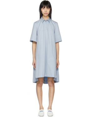 photo Blue Poplin Short Dress by Carven - Image 1