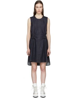 photo Indigo Denim Twist Back Dress by Carven - Image 1