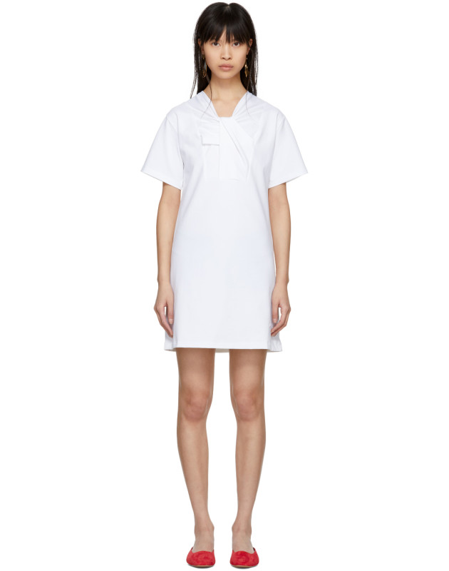 photo White Twist Detail Dress by Carven - Image 1