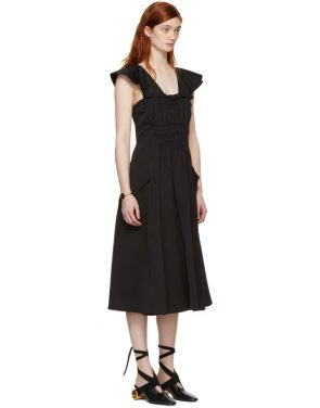 photo Black Gathered Dress by Carven - Image 2