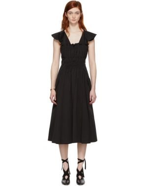photo Black Gathered Dress by Carven - Image 1