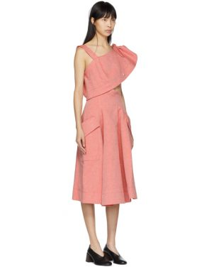 photo Red Twill Cut-Out Dress by Carven - Image 2