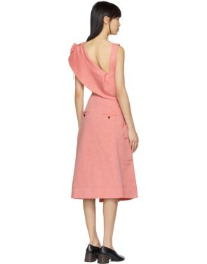 photo Red Twill Cut-Out Dress by Carven - Image 3
