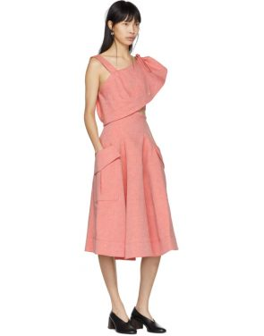 photo Red Twill Cut-Out Dress by Carven - Image 4