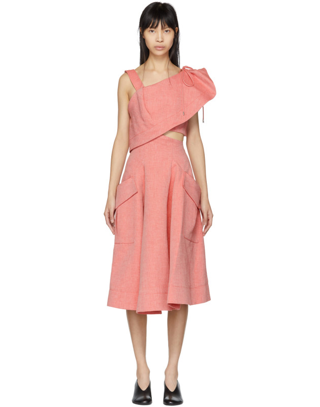 photo Red Twill Cut-Out Dress by Carven - Image 1