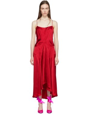 photo Red Viscose Slip Dress by Carven - Image 1