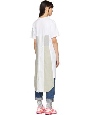 photo White Panelled Print T-Shirt Dress by Comme des Garcons Homme Plus - Image 3