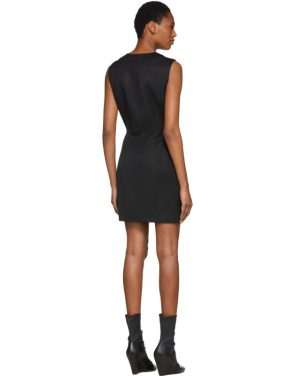 photo Black Double-Breasted Mini Dress by Pierre Balmain - Image 3