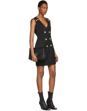photo Black Double-Breasted Mini Dress by Pierre Balmain - Image 4