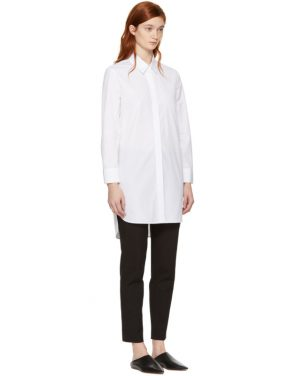 photo White Poplin Shirt Dress by Neil Barrett - Image 2