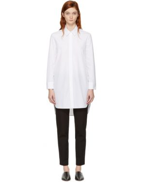 photo White Poplin Shirt Dress by Neil Barrett - Image 1