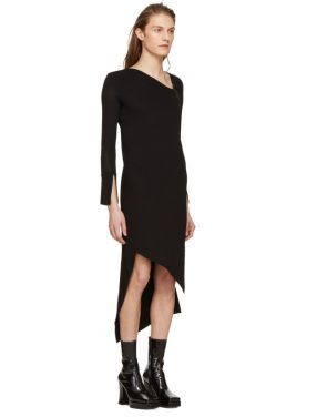 photo Black Spiral Knit Dress by Neil Barrett - Image 2