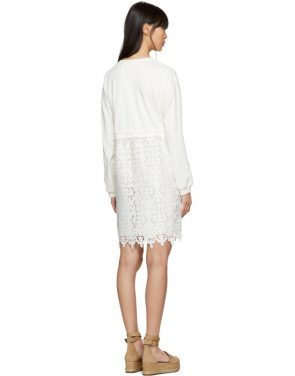 photo Off-White Broderie Anglaise Dress by See by Chloe - Image 3