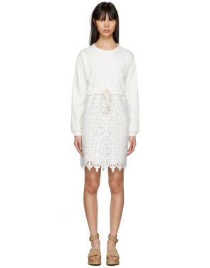 photo Off-White Broderie Anglaise Dress by See by Chloe - Image 1