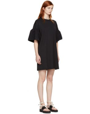 photo Black Ruffle Sleeves T-Shirt Dress by See by Chloe - Image 2